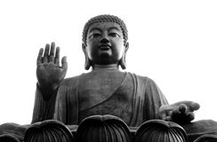 stora buddha Hong Kong Royaltyfri Foto