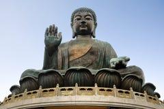 Stora buddha - Hong Kong Arkivfoto