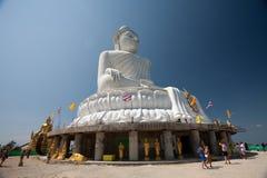 Stora Buddha på den Phuket ön Arkivbilder