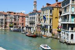 Stora Canale, Venedig Italien Royaltyfria Foton