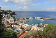 Stora Capri Marina Royaltyfri Foto