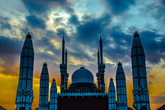 Stora centrala Java Mosque Royaltyfri Fotografi