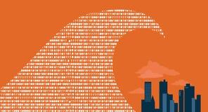 Stora data ankom stock illustrationer