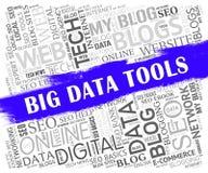 Stora data bearbetar den 2d illustrationen för den Digital toolboxen royaltyfri illustrationer