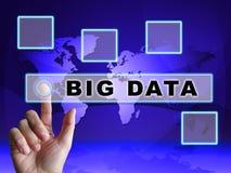 Stora data bearbetar illustrationen för den Digital toolboxen 3d vektor illustrationer