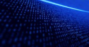 Stora data, nätverk, internet, affär, bakgrundsblått med data och begreppstech och ljus Royaltyfri Bild