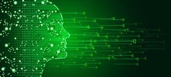 Stora data och begrepp för konstgjord intelligens arkivfoto