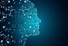 Stora data och begrepp för konstgjord intelligens Royaltyfri Bild