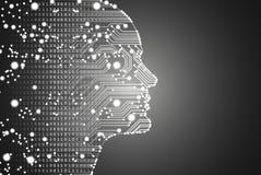 Stora data och begrepp för konstgjord intelligens Arkivbilder