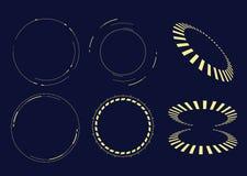 Stora data, teknologi, visualization, infographic design för vetenskap Royaltyfria Bilder
