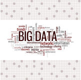 Stora data uttrycker molnet Royaltyfri Fotografi