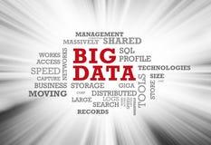 Stora data uttrycker molnet royaltyfri illustrationer