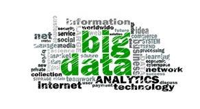 Stora data uttrycker molnet stock illustrationer
