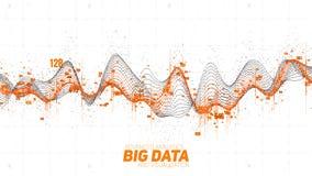 Stora data vinkar visualization Futuristiskt infographic Estetisk design för information Visuell datakomplexitet komplicerat vektor illustrationer