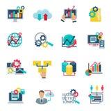 Stora dataAnalytics sänker symboler stock illustrationer
