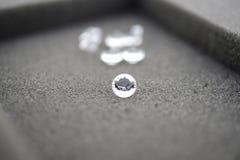 Stora diamanter med en i fokus Arkivbild