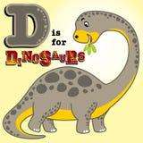 Stora dinosaurier royaltyfri illustrationer