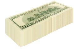 stora dollar packe Arkivfoto
