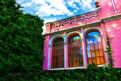Stora fönster för terrass Royaltyfri Foto