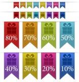 Baner/flikar för Sale färgrika Fotografering för Bildbyråer