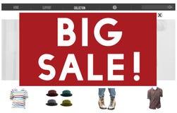 Stora försäljningar som annonserar säsongsbetonat befordranbegrepp för rabatt Royaltyfri Bild
