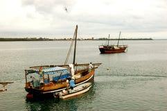 Stora fartyg i Kenya Royaltyfri Fotografi