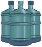 Stora flaskor av vatten Royaltyfri Fotografi