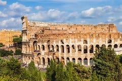 stora forntida Colosseum, Rome Fotografering för Bildbyråer