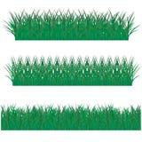 Stora gräsgränser uppsättning, vektorillustration fotografering för bildbyråer