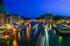 Stora Grand Canal eller kanal Royaltyfri Fotografi
