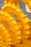 Stora gula tandhjul Royaltyfri Fotografi