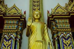 Stora guld- buddha (den guld- triangeln, khoyaien, Thailand) Arkivbild