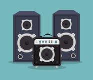 stora högtalare isolerade symbolsdesign stock illustrationer
