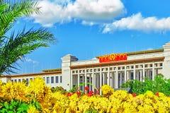 Stora Hall av folket (nationellt museum av Kina) på Tiananme arkivfoto