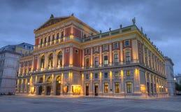 Stora Hall av frankfurterkorven Musikverein, Wien, Österrike, HDR arkivbild