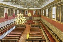Stora Hall av handlingar, universitet av Coimbra royaltyfria foton