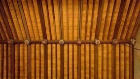 Stora Hall Ceiling, Charlecote hus, Warwickshire, England Arkivfoto