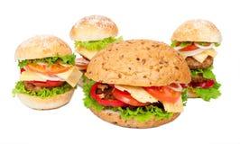 Stora hamburgare Royaltyfri Bild
