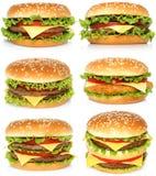 stora hamburgare Arkivfoton