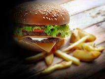 Stora hamburgare- och fransmansmåfiskar Royaltyfri Foto