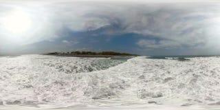 Stora havvågor vr360 stock video