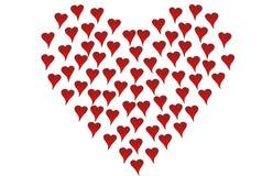 stora hjärtahjärtor som format litet Arkivfoto