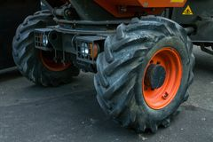Stora hjul Arkivfoto