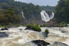 Stora Iguazu Falls Naturlig under av världen Royaltyfri Fotografi