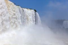 Stora Iguazu Falls Naturlig under av världen Arkivfoton