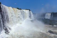 Stora Iguazu Falls Naturlig under av världen Fotografering för Bildbyråer