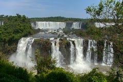 Stora Iguazu Falls Naturlig under av världen Royaltyfria Foton