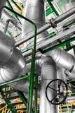 Stora industriella rör Arkivfoton