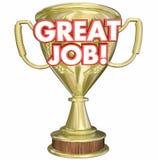 Stora Job Performance Recognition Trophy Royaltyfri Fotografi