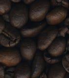 Stora kaffebönor och stänger sig upp Royaltyfri Fotografi
